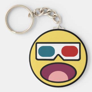 Wow! 3D Basic Round Button Keychain