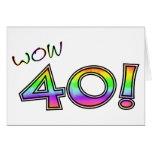 WOW 40TH BIRTHDAY CARD