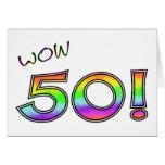 WOW 50TH BIRTHDAY GREETING CARD