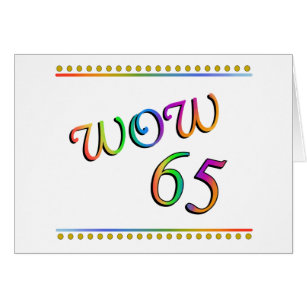 Funny 65th birthday cards greeting photo cards zazzle wow 65th birthday funny card bookmarktalkfo Gallery