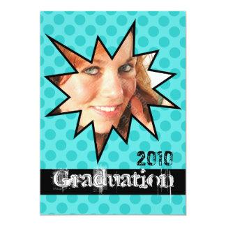 WOW Aqua Open House Party Graduation Invitations