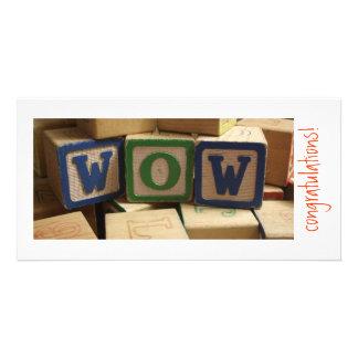 WOW blocks! Congratulations Custom Photo Card