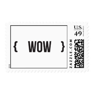 Wow - Bracketed - Black and White Stamp