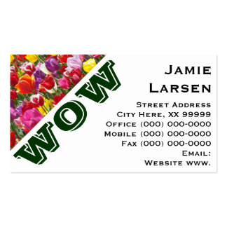 WOW business cards Tulip Flowers Nature Colorful