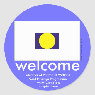 WoW Cards Welcome Sticker