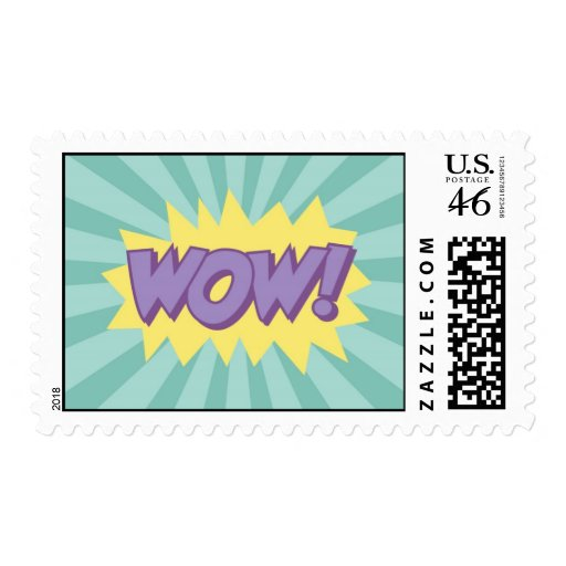 WOW comic book style effect Postage