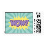 WOW comic book style effect Postage Stamp