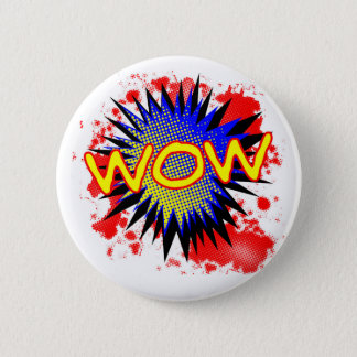 Wow Comic Exclamation Pinback Button