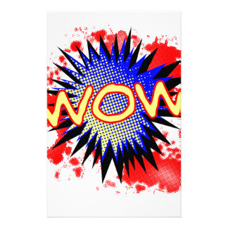 Wow Comic Exclamation Stationery