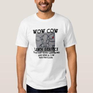 WOW COW LAWN SERVICE T-SHIRT