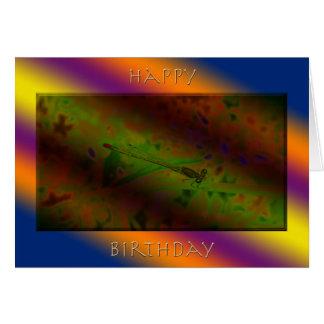 Wow Damselfly Birthday Card