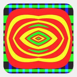 Wow Factor Square Sticker
