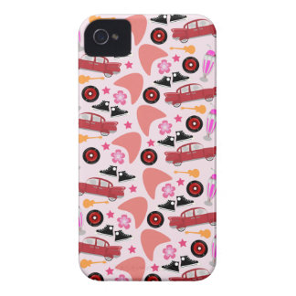 Wow Fun Pink Fifties Pattern iPhone 4 Case