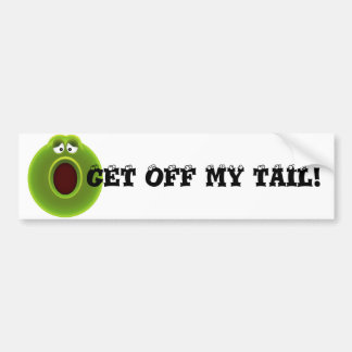 "WOW! FUNNY CARTOON ""GET OFF MY TAIL!"" BUMPER STICKERS"