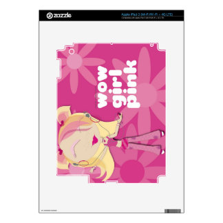 Wow Girl Pink iPad 3 Decals