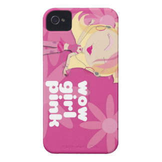 Wow Girl Pink iPhone 4 Case