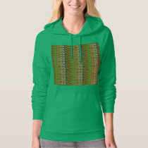WOW Green Sparkle Wave pattern by NAVIN JOSHI gift Hoodie