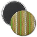 WOW Green Sparkle Wave pattern by NAVIN JOSHI gift Fridge Magnets