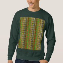 WOW Green Sparkle Wave pattern by NAVIN JOSHI gift Sweatshirt