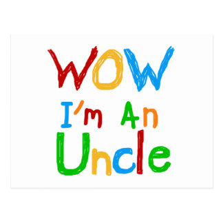 WOW I m an Uncle T-shirts and GIfts Postcard
