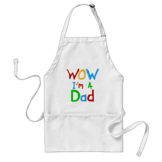 WOW I'm a Dad T-shirts and GIfts Adult Apron