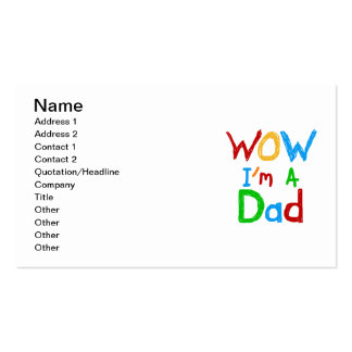 WOW I'm a Dad T-shirts and GIfts Business Card Templates