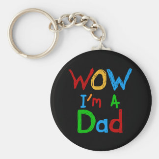 WOW I'm a Dad T-shirts and GIfts Key Chains