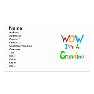 WOW I'm a Grandma T-shirts and Gifts Business Card Templates