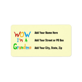 WOW I'm a Grandma T-shirts and Gifts Label
