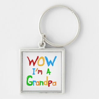 WOW I'm a Grandpa T-shirts and Gifts Keychains
