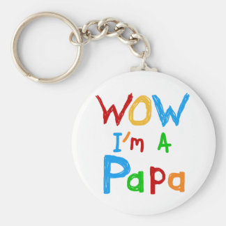 Wow I'm a Papa Tshirts and GIfts Keychain
