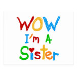 WOW I'm a Sister T-shirts and GIfts Post Cards