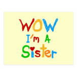 WOW I'm a Sister T-shirts and GIfts Postcards