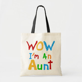 WOW I'm an Aunt T shirts and Gifts Budget Tote Bag
