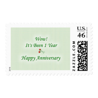 Wow! It's Been 1 Year Happy Anniversary Postage Stamp