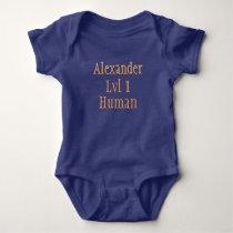 wow level 1 human baby bodysuit