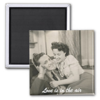 wow, Love is in the air 2 Inch Square Magnet