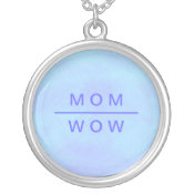 Wow Mom necklace in blue necklace
