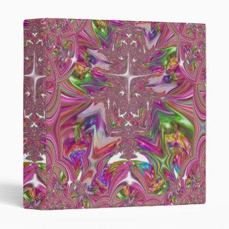Wow Pink Fractal Art Binder