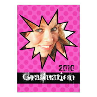 WOW Pink Open House Party Graduation Invitations
