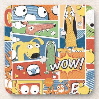 WOW Pop Art Comic Character Coaster