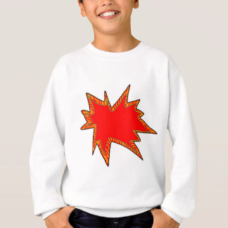 Wow Pop Pow Comic Art Super Heroes Word Bubble Sweatshirt