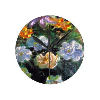 WOW POW FLOWER ART ROUND WALLCLOCKS