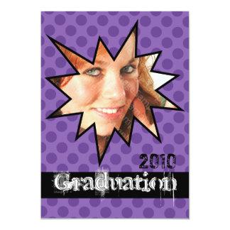WOW Purple Open House Party Graduation Invitations