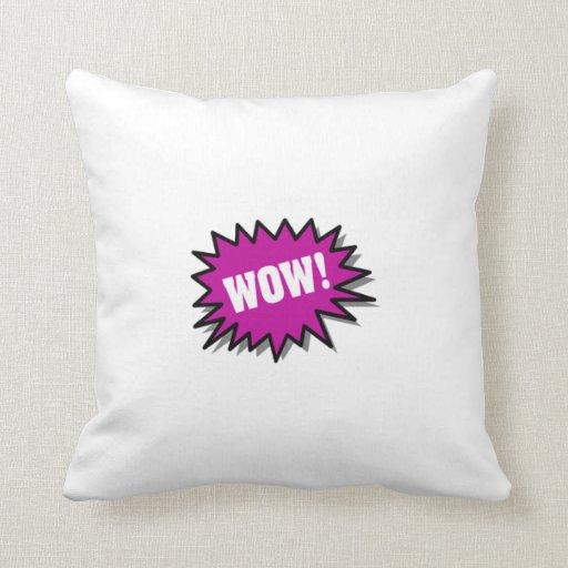 Wow púrpura almohada