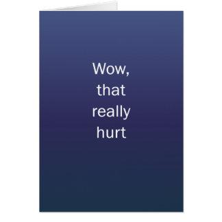 Wow que dañó tarjeta de felicitación