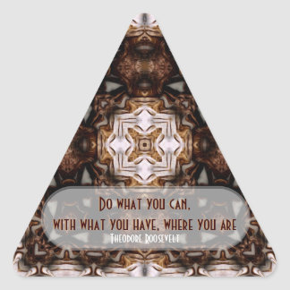 WOW Quotes: Do What You Can.. Triangle Sticker