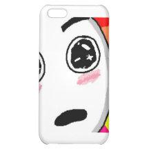 Wow Rainbow Comic Face iPhone 5C Case