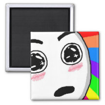 Wow Rainbow Comic Face Refrigerator Magnets
