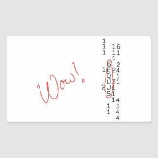 Wow Signal SETI Message Rectangle Stickers